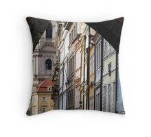 Prague Backstreets Throw Pillow
