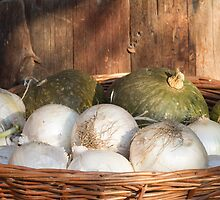 onions and pumpkins in the basket by spetenfia