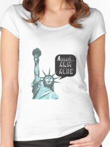 Liberty arm ache Women's Fitted Scoop T-Shirt