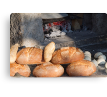 bread from the baker Canvas Print
