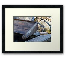 old fountain for clothes Framed Print
