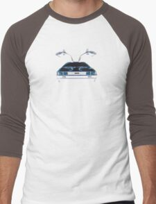 Delorean (CMYK) Men's Baseball ¾ T-Shirt