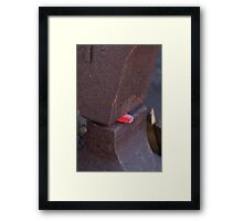 rock and a hot iron Framed Print
