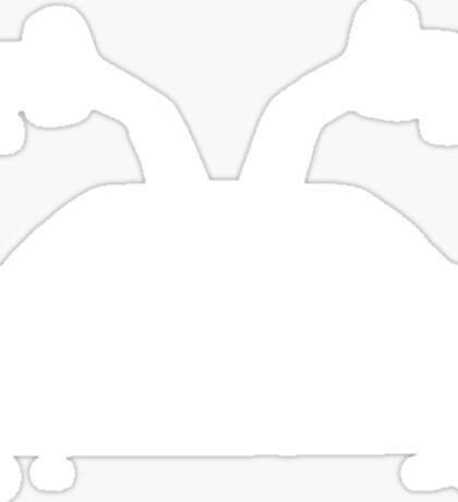 Delorean (White) Sticker