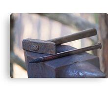 hammer and anvil Metal Print