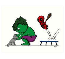 Deadpool's Hulkbuster Art Print