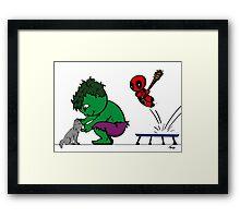 Deadpool's Hulkbuster Framed Print