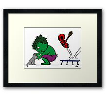 Deadpool's Hulkbuster Framed Print