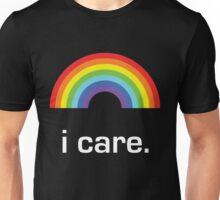 Sichuan Earthquake Rainbow White I Care Unisex T-Shirt