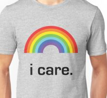Sichuan Earthquake Rainbow Black I Care Unisex T-Shirt