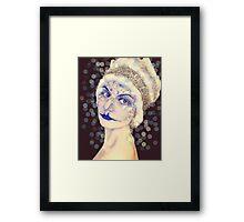 Miss Ice Framed Print