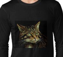 Scottish Wildcat close up Long Sleeve T-Shirt