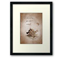 Aladdin inspired valentine. Framed Print