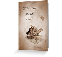 Aladdin inspired valentine. Greeting Card