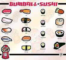Gumball Sushi  |  English by thickblackoutline