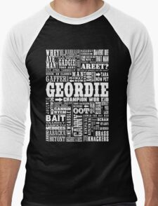 Geordie Sayings Print Men's Baseball ¾ T-Shirt