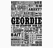 Geordie Sayings Print Black Unisex T-Shirt