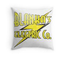 Blanka's Electric Co. Throw Pillow