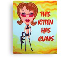 This Kitten Has Claws Canvas Print