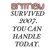 Britney Survived, Blackout. Photographic Print