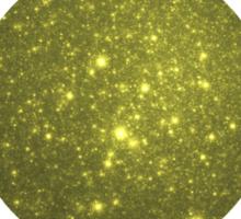 Gilded Galaxy | Rising Shining Setting Sun Sticker