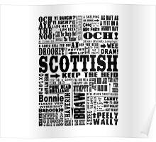 Scottish Sayings Print Black Poster