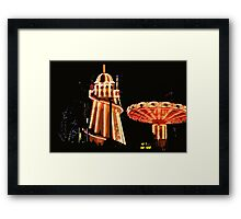 Helter-skelter and merry-go-round Framed Print