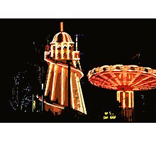 Helter-skelter and merry-go-round Photographic Print
