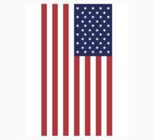 USA, American Flag, Portrait, Stars & Stripes, America, Pure & simple by TOM HILL - Designer