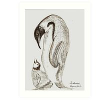 Mother and Chick. !! Art Print