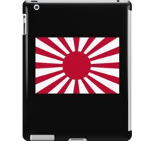 War flag, Imperial Japanese Army, Japan, WWII, on Black iPad Case/Skin