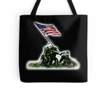 American War Flag, USA, Raising the Colours, Iwo Jima, America, Americana, WW2, WWII Tote Bag