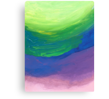 Abstract - blue, green, purple Canvas Print