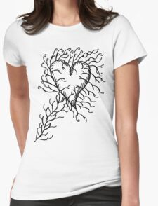 Heart Growth Womens Fitted T-Shirt