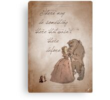 Beauty and the Beast inspired valentine. Metal Print