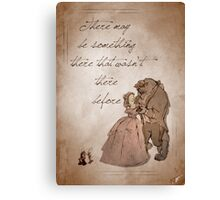 Beauty and the Beast inspired valentine. Canvas Print