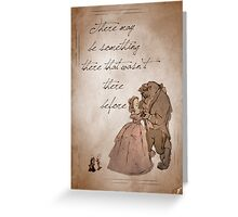 Beauty and the Beast inspired valentine. Greeting Card