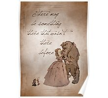 Beauty and the Beast inspired valentine. Poster
