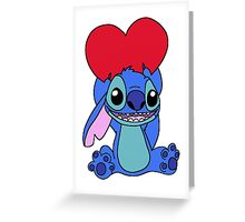 Stitch with heart Greeting Card