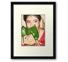 Auspicious Looks Framed Print