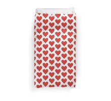 Red heart on white Duvet Cover