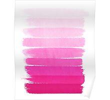 Luca - Ombre, pink, brushstroke, art, painting for trendy girls cell phone Poster