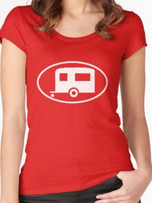 Travel Trailer Camper Oval Women's Fitted Scoop T-Shirt