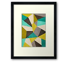 Polygons Framed Print