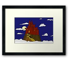 Magical castle in the clouds Framed Print