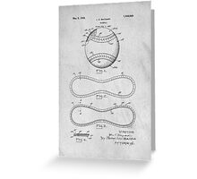 Baseball original patent art Greeting Card