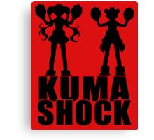 Kuma Shock Canvas Print