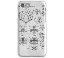 Rubics Cube Patent Art iPhone Case/Skin