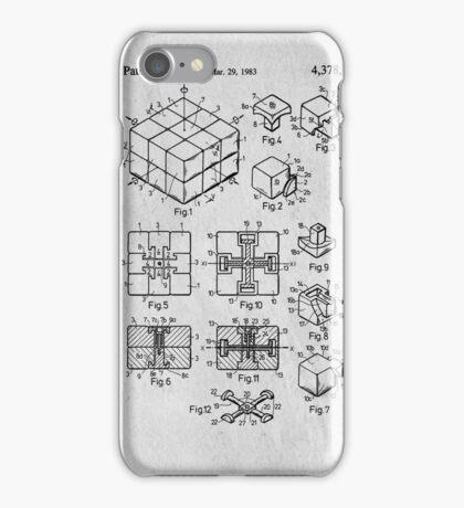 Rubics Cube Patent Art iPhone Case/Skin