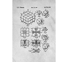 Rubics Cube Patent Art Photographic Print